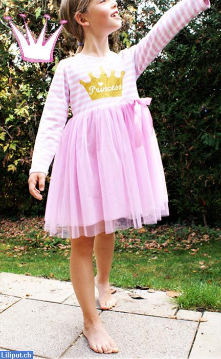 Bild 5: Prinzessin Kinder-Kleid mit Tutu, Rock, Princess in 92/98, 104/110, 116/122